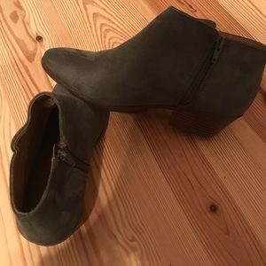 Army Green Faux Suede booties